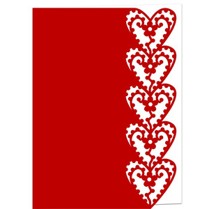 blossom hearts lace edged card