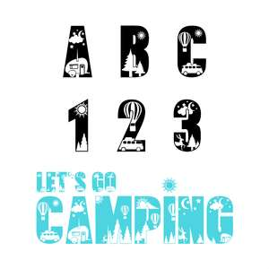 let's go camping font