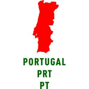portugal country outline