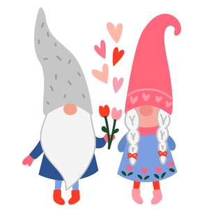 gnome couple in love