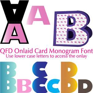 qfd onlaid card monogram font