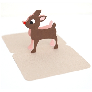 3d reindeer pop up card