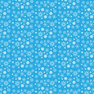 blue snowflakes pattern