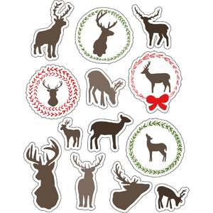 ml deer silhouettes stickers