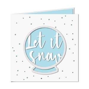 'let it snow' snow globe card
