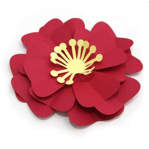 large red 3d flower