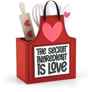 box card love apron