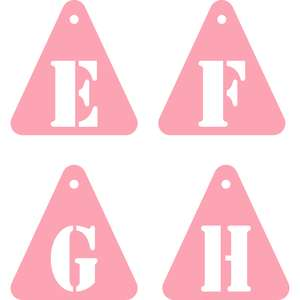 tags triangle stencil efgh