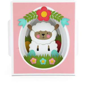 shadow box card easter lamb