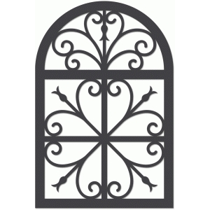 wrought iron trellis
