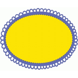 scalloped doily frame