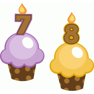 birthday cupcakes 7 and 8