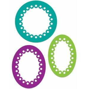 scalloped frames