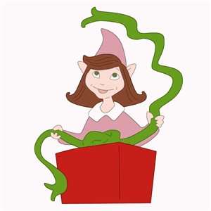 gift wrapping elf