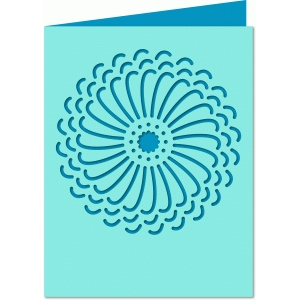 a2 flower cut-out card