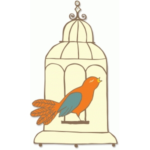 birdcage and bird