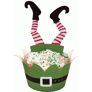 cupcake wrapper set: elf dive