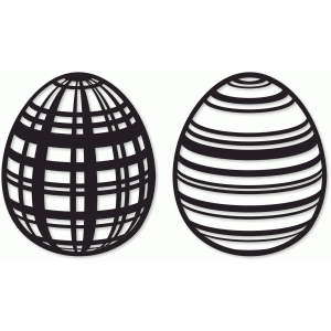 plaid & striped easter eggs