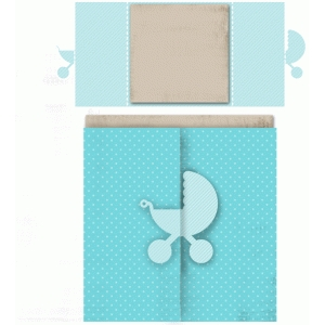 buggy square double folded card