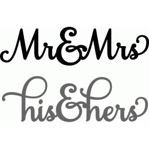 mr & mrs sentiment set