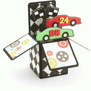 race car box card