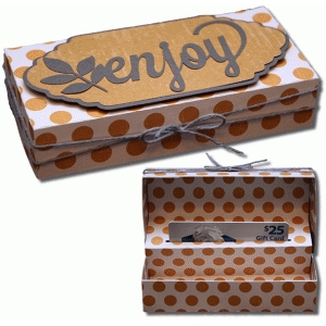 3d pop up gift card enjoy box