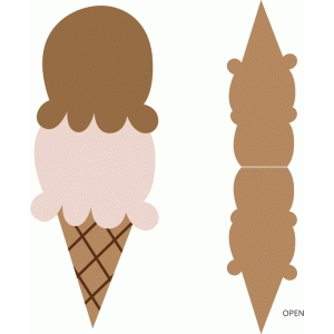 double scoop ice cream cone card
