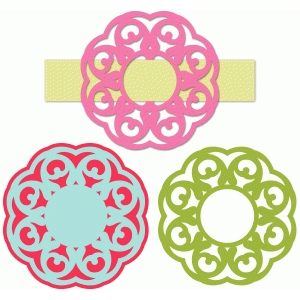 frame buckle ribbon slide set