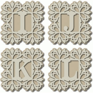 damask monogram ijkl