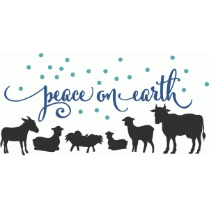 peace on earth with nativity animals