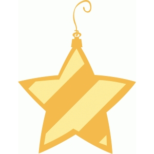 striped star ornament