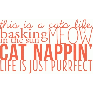 cat's life word art