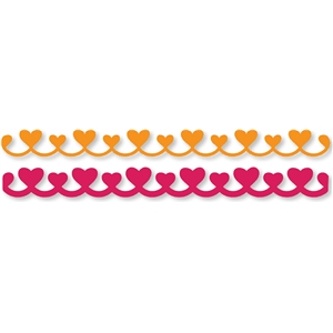 scalloped hearts border