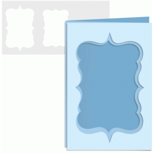 4x6 trifold cutout card