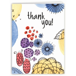 wildflower garden thank you card