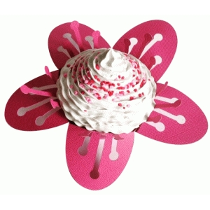 cherry blossom 3d cupcake wrapper