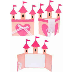 castle princess folded card