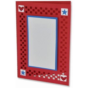 checkerboard frame card