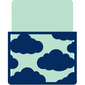 journaling card with cloud pocket