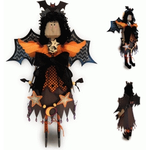 witch 3d figure clothing & wings