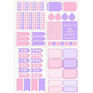 pink & purple planner sticker set