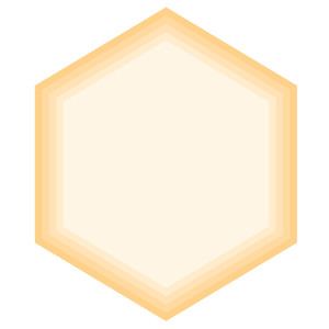 nested hexagon jewel shapes