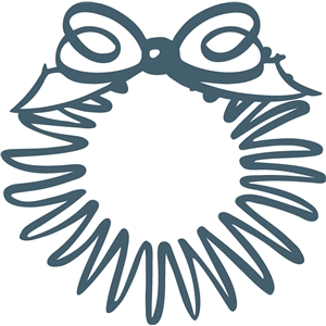 scribble wreath