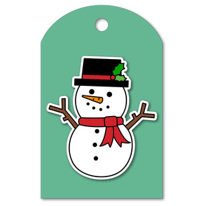 easy print + cut tag snowman