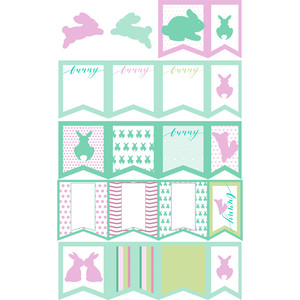 bunnyville easter planner stickers