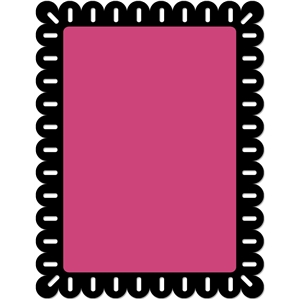 scalloped rectangle