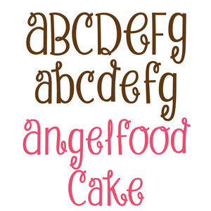 angel food cake font