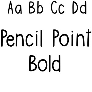 pencil point bold font