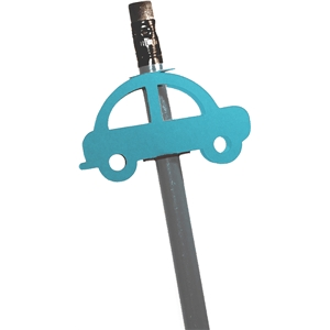 double sided pencil topper- car