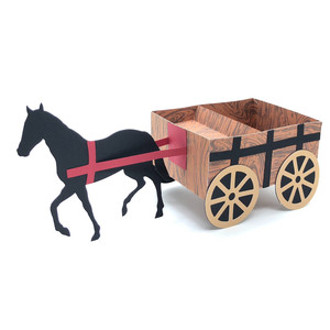 3d horse and cart